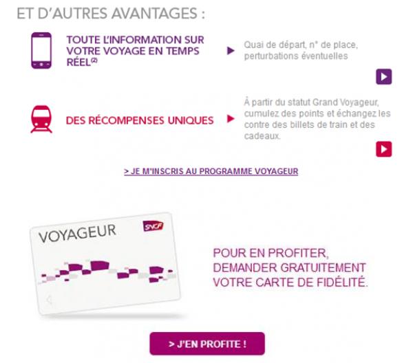 carte voyageur sncf avantages Carte voyageur SNCF