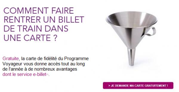 Carte fidelite SNCF