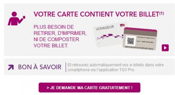 Demander la carte gratuite SNCF